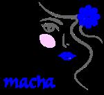 Macha bleu
