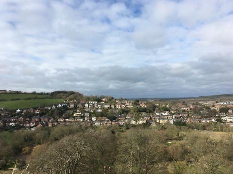 La vue depuis la forteresse